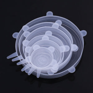 Reusable Food Silicone Lids