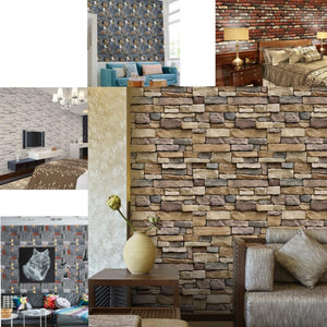 NEEDS DESCRIPTION 3D Brick Stone Rustic Effect Self-Adhesive Wall Paper/Wall Stickers