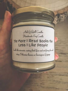 The more I read books the less I like people