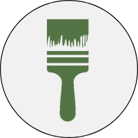 icon of house with a paint roller