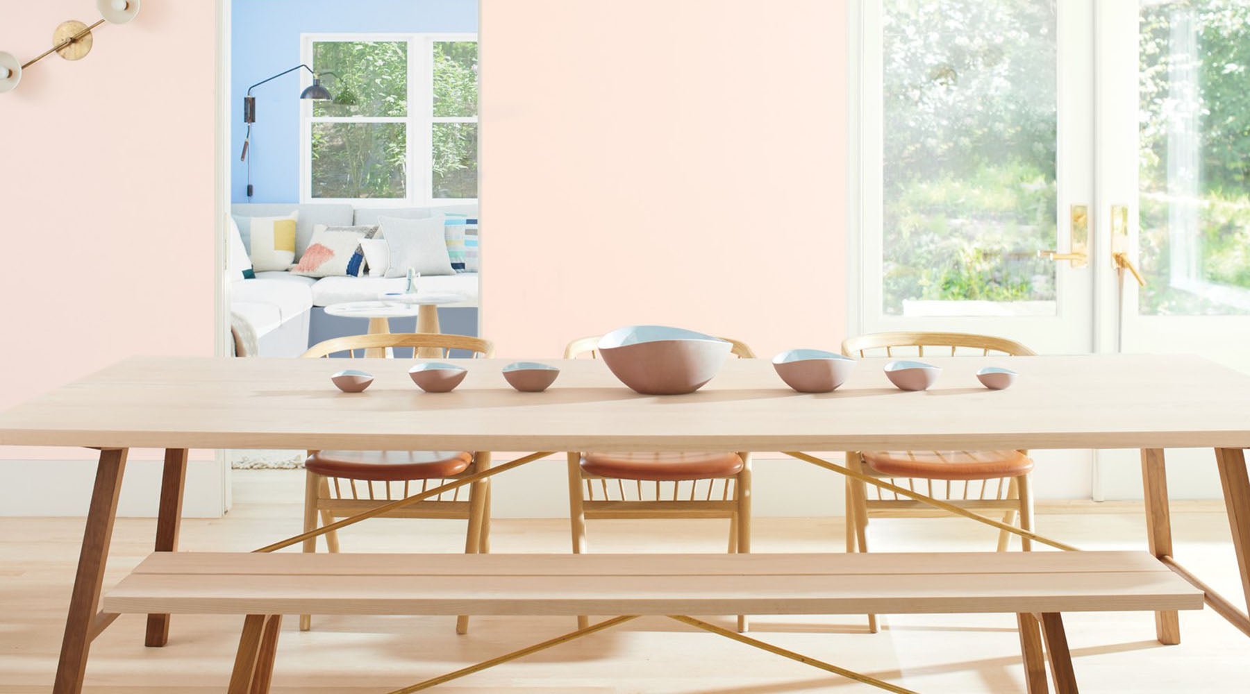 Benjamin Moore's Color of the Year 2020; First Light in a Dining Room