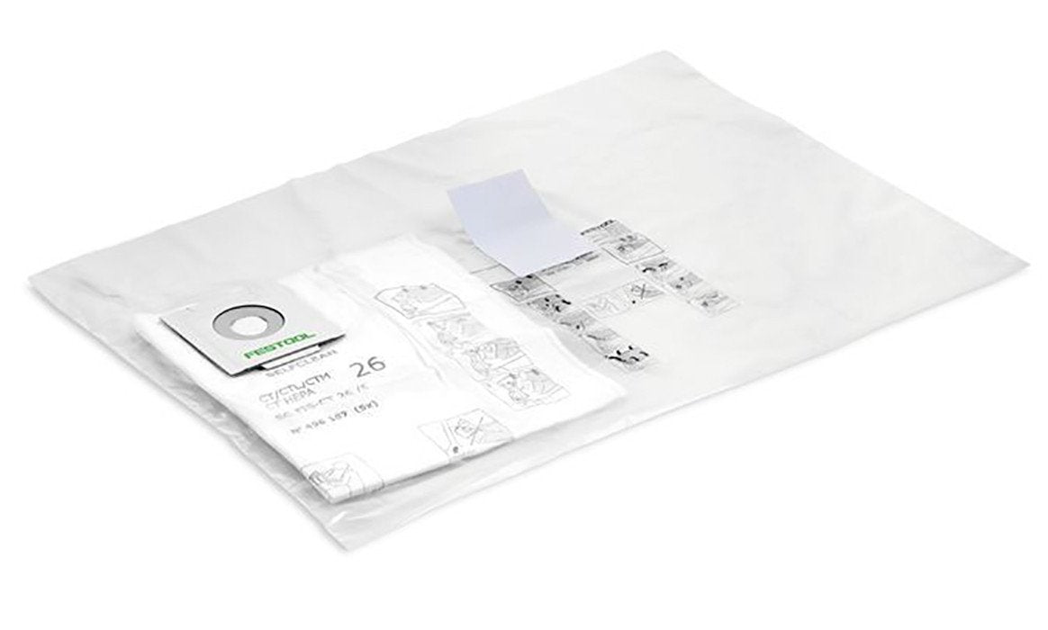 Festool self clean filter bag, available at Clement's Paint in Austin, TX.