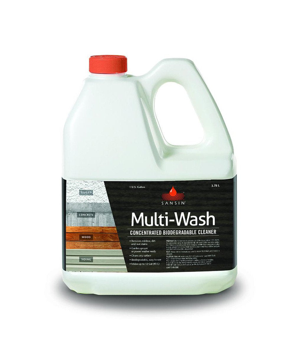 Sansin Multi Wash Cleaner, available at Clement's Paint in Austin, TX.
