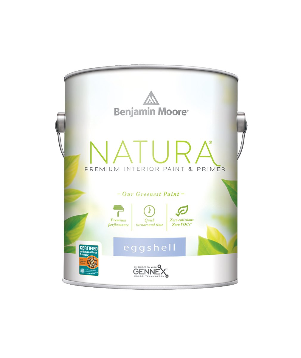 Benjamin Moore Eggshell Natura Paint available at Clement's Paint.