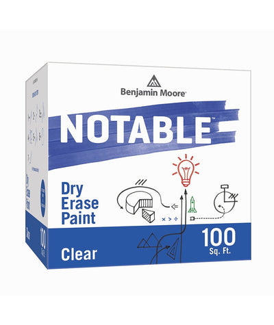 Benjamin Moore Notable Dry Erase Paint in Clear 100 sq. ft, available at Clement's Paint.