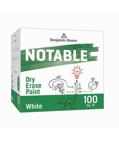 Benjamin Moore Notable Dry Erase Paint in White 100 sq. ft, available at Clement's Paint.