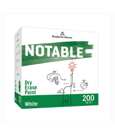 Benjamin Moore Notable Dry Erase Paint in White 200 sq. ft, available at Clement's Paint.