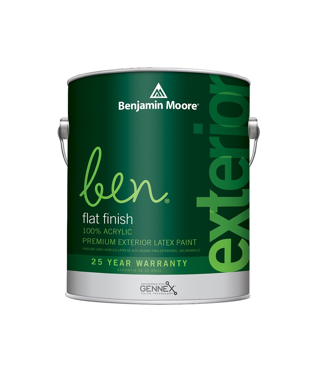 Benjamin Moore Ben Flat Exterior Paint available at Clement's Paint