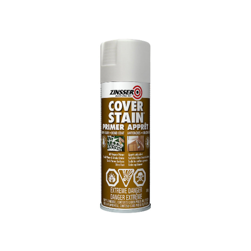 Zinsser Cover Stain Primer and Sealer Spray, available at Clement's Paint in Austin, TX.