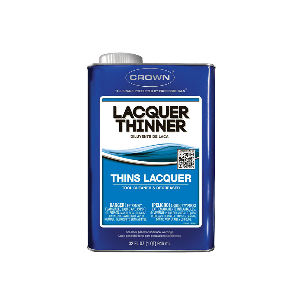 Crown lacquer thinner, available at Clement's Paint in Austin, TX.