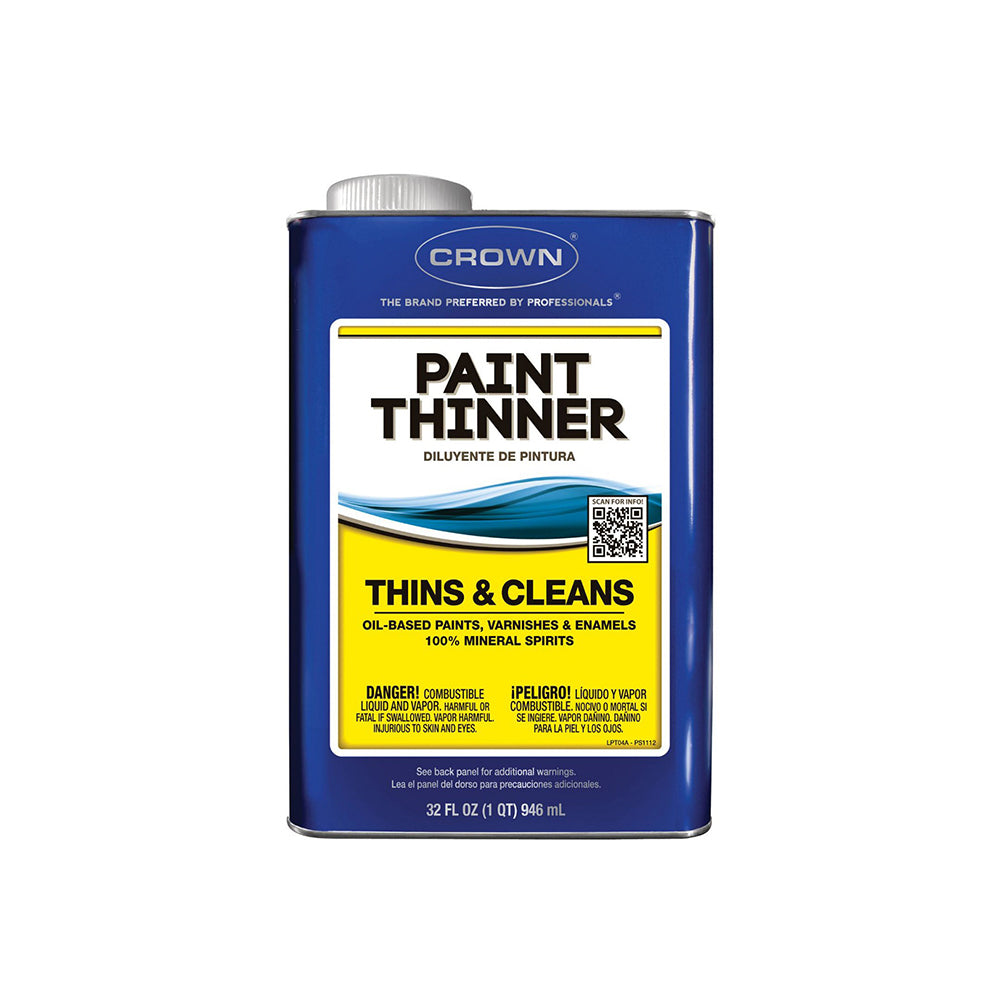Crown paint thinner, available at Clement's Paint in Austin, TX.