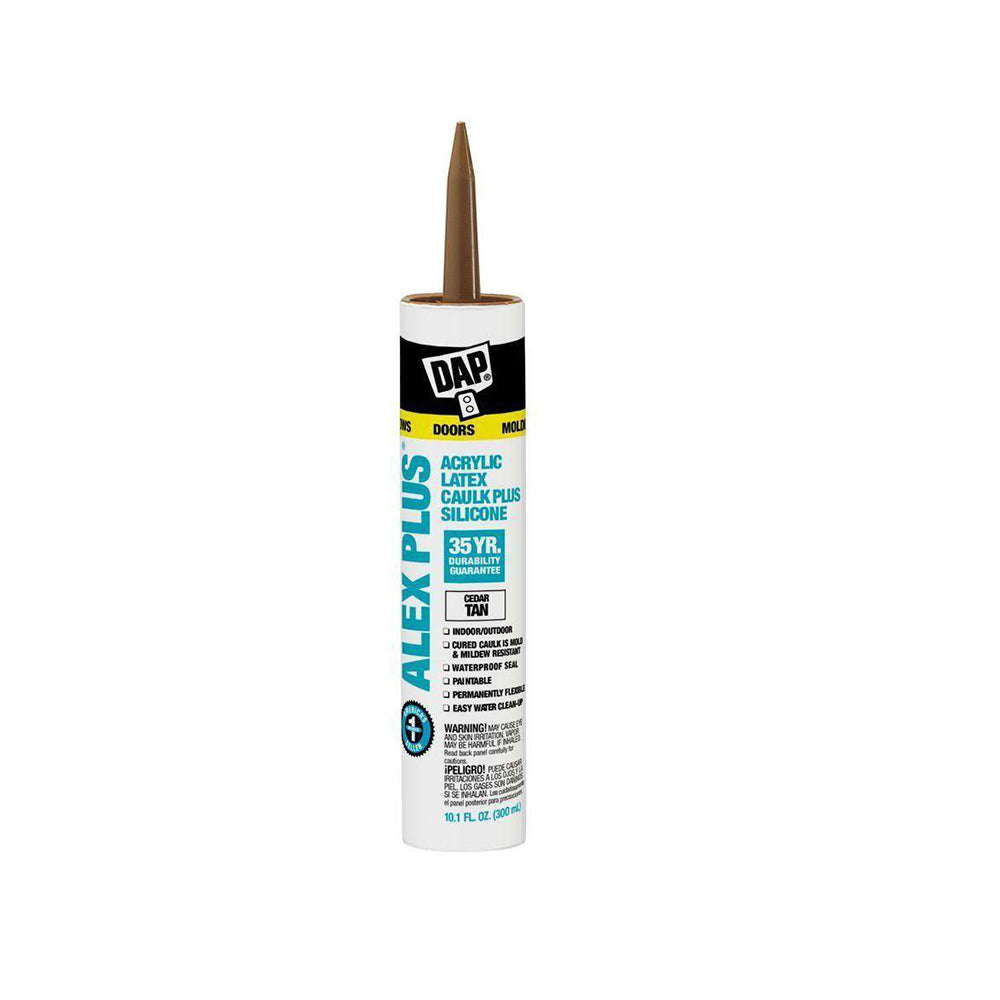 DAP Alex Plus Silicone Fast Dry Caulk, available at Clement's Paint in Austin, Texas.