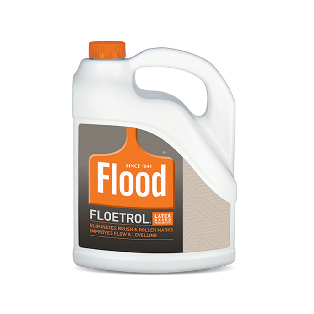 Flood floetrol latex paint additive, available at Clement's Paint in Austin, TX.