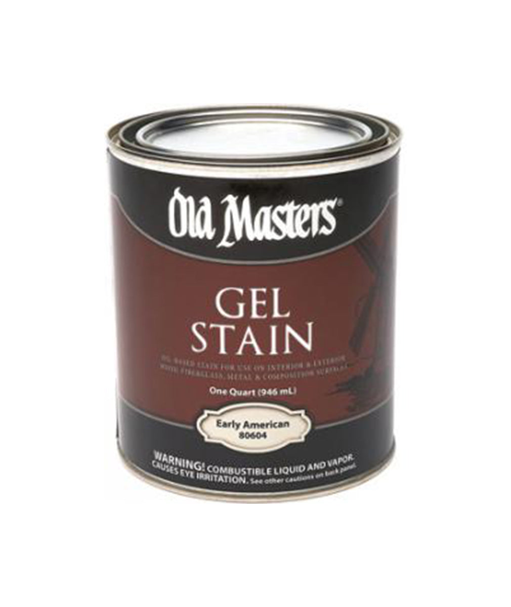 Can of Old Masters Gel Stain, available at Clement's Paint in Austin, TX.