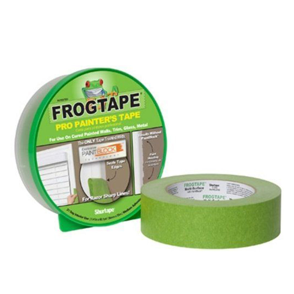 Green pro painter's frogtape, available at Clement's Paint in Austin, TX.