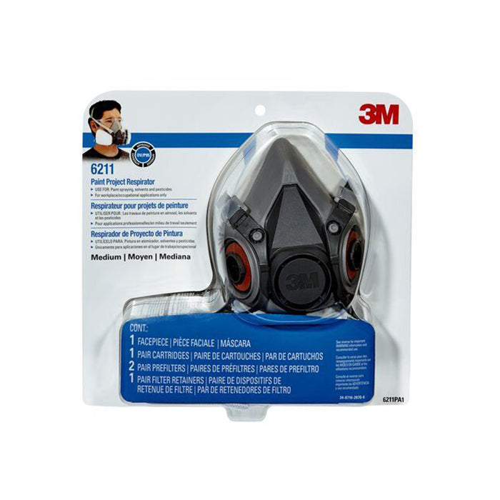 3M Paint project respirator in Medium 6211, available at Clement's Paint in Austin, TX.