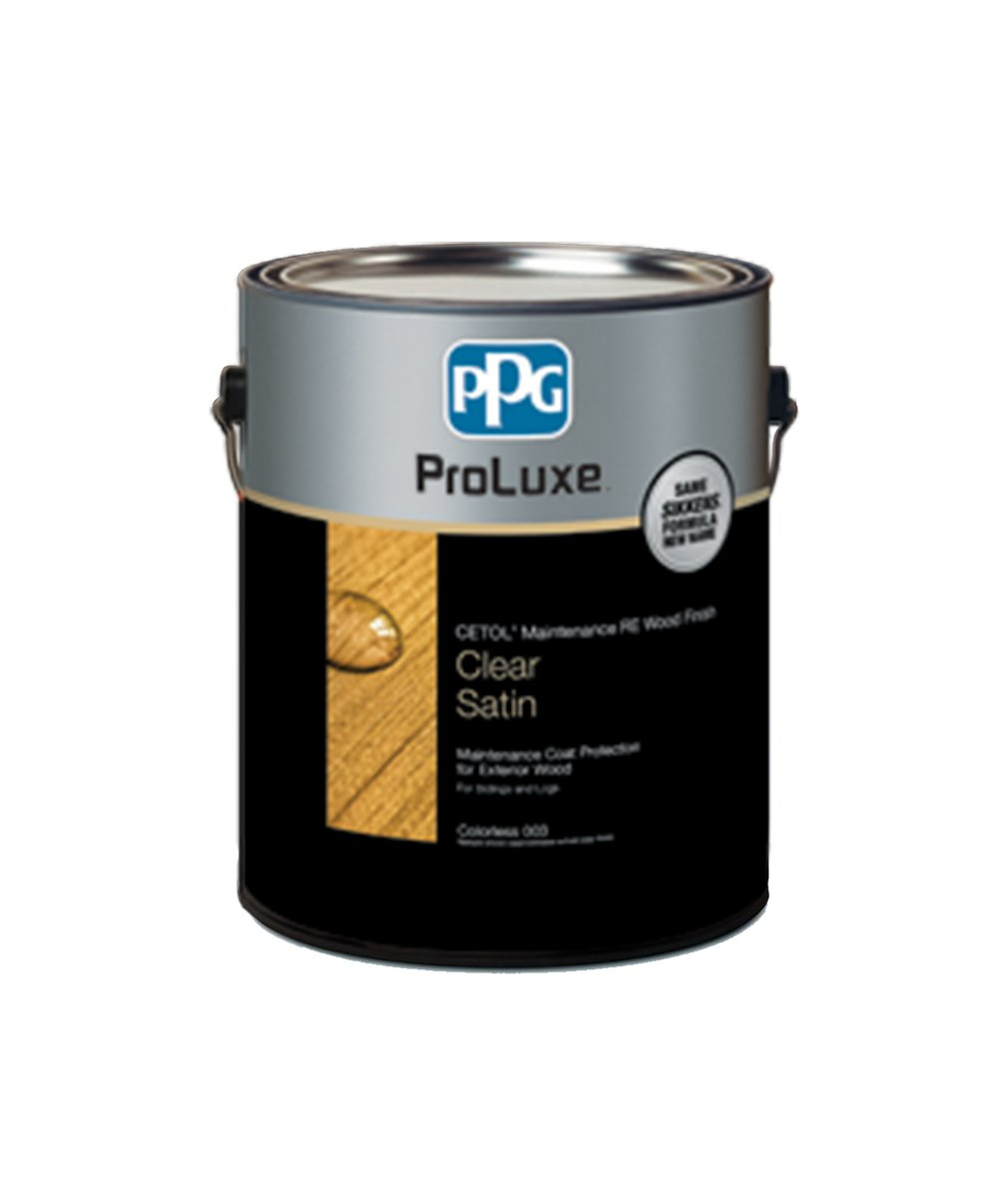 Proluxe maintenance coat RE exterior stain available at Clement's Paint in Austin, TX.