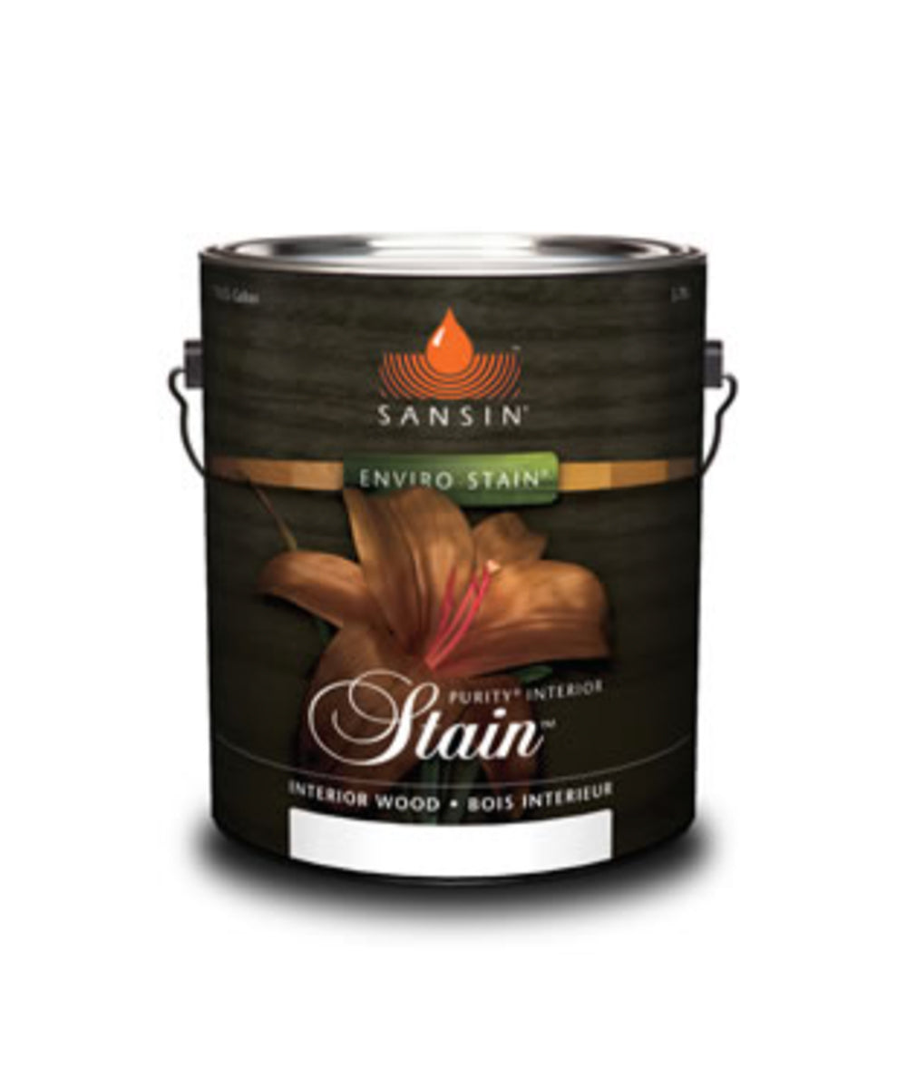 Sansin Interior Stain, available at Clement's Paint in Austin, TX.