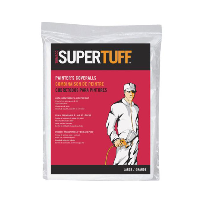 Trimaco SuperTuff® Coveralls, available at Clement's Paint in Austin, TX.