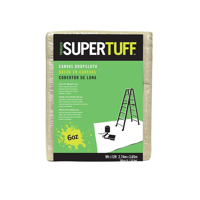 SuperTuff™ Canvas Drop Cloths, available at Clement's Paint in Austin, TX.