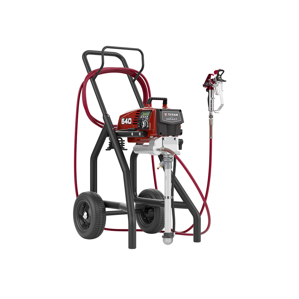 Titan Impact 640 High Rider Complete paint sprayer, available at Clement's Paint in Austin, TX.