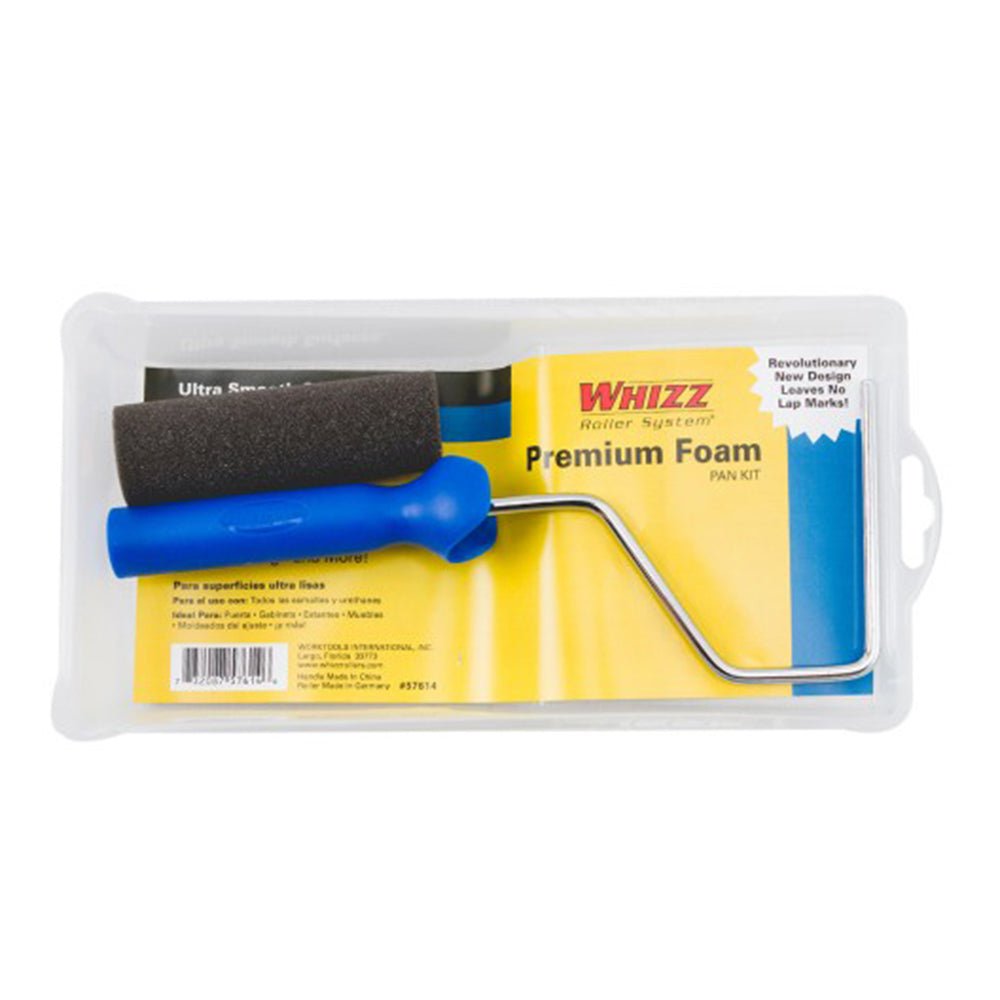 "Whizz 4"" premium foam roller kit, available at Clement's Paint in Austin, TX."