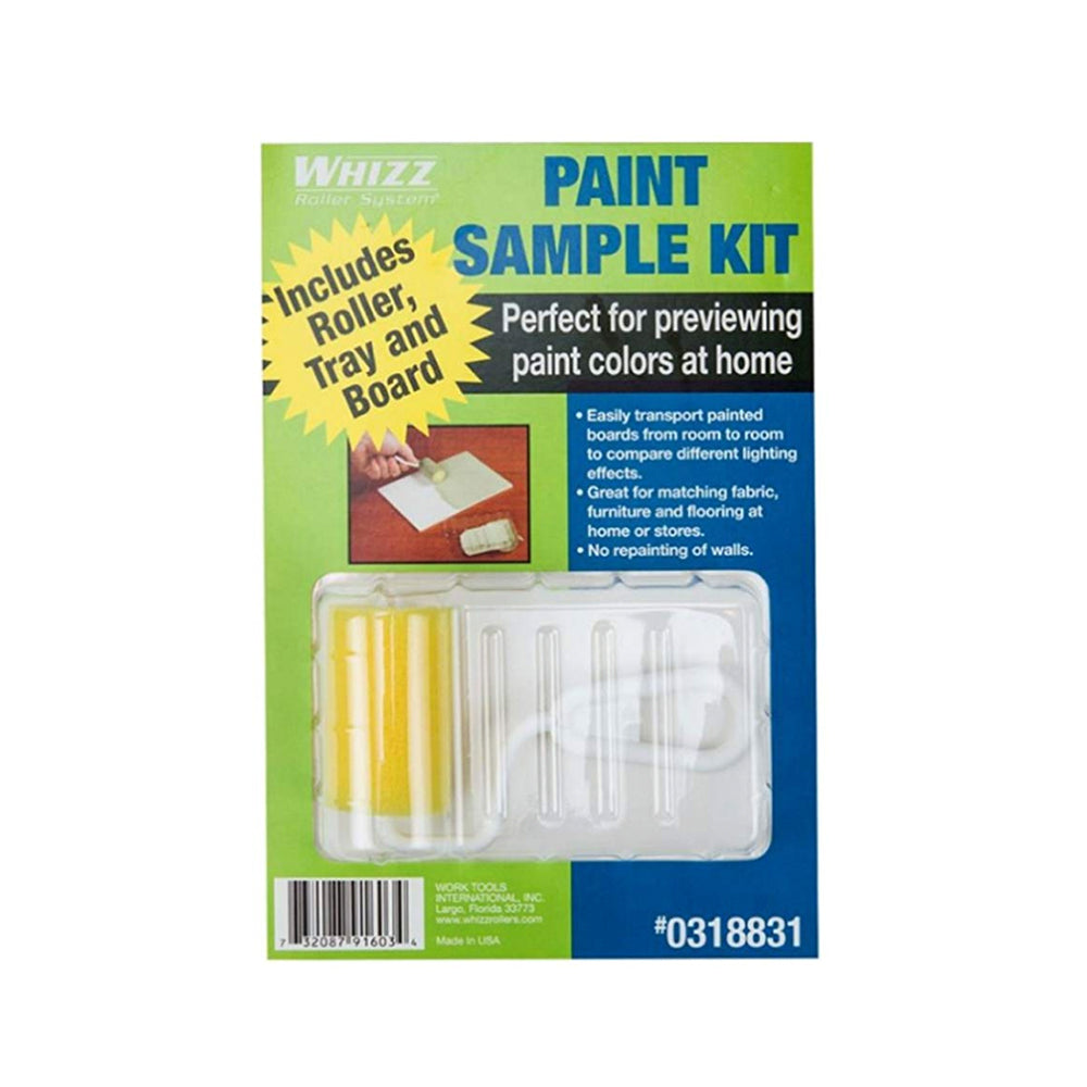 Whizz paint sample kit, available at Clement's Paint in Austin, TX.