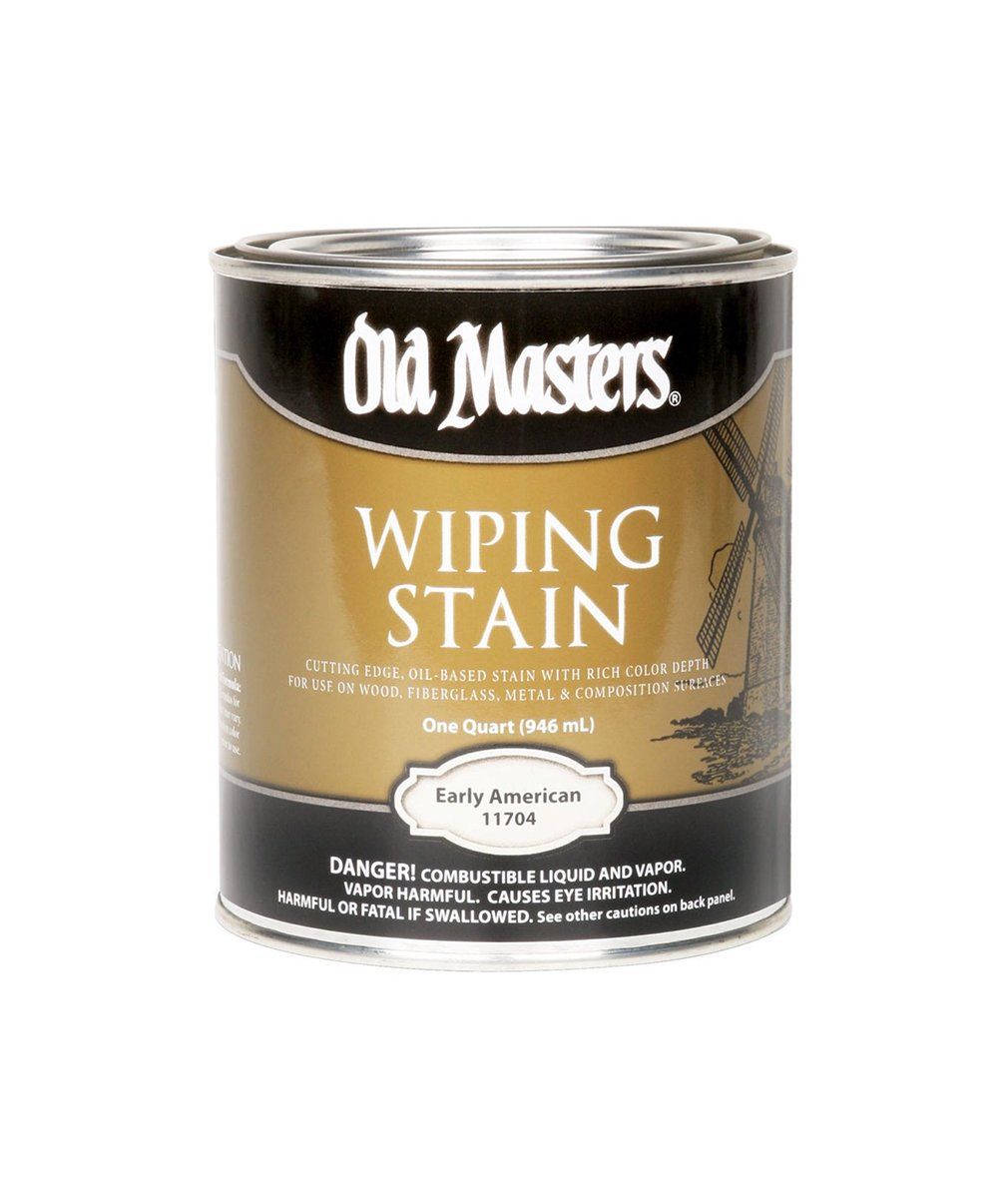Can of Old Masters Wiping Stain, available at Clement's Paint in Austin, TX.