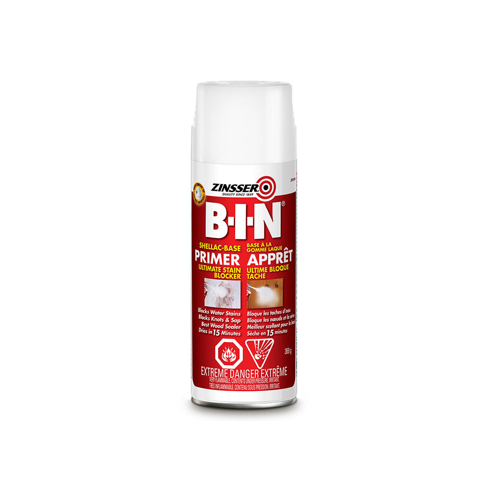 ZINSSER BIN PRIMER SPRAY, available at Clement's Paint in Austin, TX.