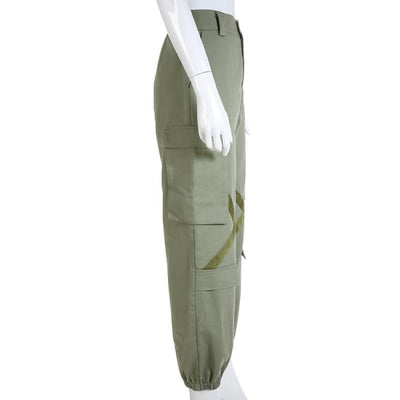 ARMY GREEN ROCKET CARGO PANTS - Bottoms