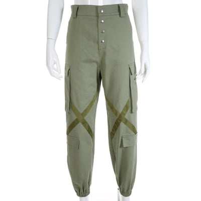 ARMY GREEN ROCKET CARGO PANTS - DARK GREEN / L - Bottoms