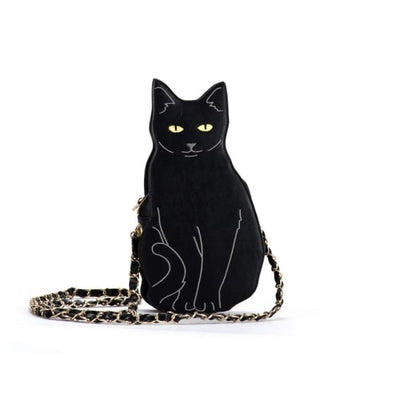 BLACK CAT CROSS SHOULDER BAG-Rebellious Creatures