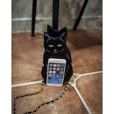BLACK CAT CROSS SHOULDER BAG