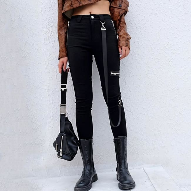 DECEPTION PENCIL PANTS-Bottoms-Rebellious Creatures