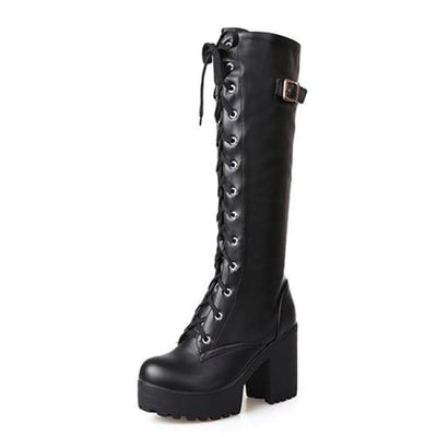 Eleanor Knee High Boots - Black Shoes / 4
