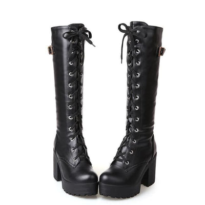 ELEANOR KNEE HIGH BOOTS-Rebellious Creatures