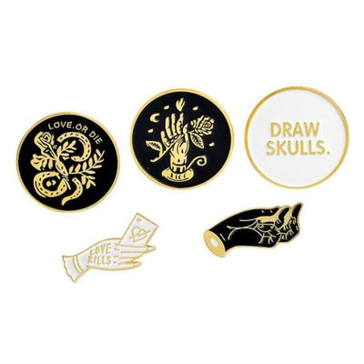 Gothic Brooch Pins Sets - Set 9 - Gold