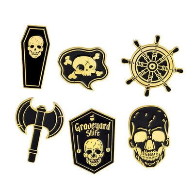 Gothic Brooch Pins Sets - Set 8 - Gold