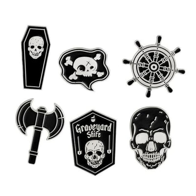 Gothic Brooch Pins Sets - Set 8 - Silver