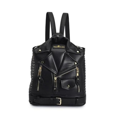 GOTHIC LEATHER JACKET BACKPACK-Rebellious Creatures