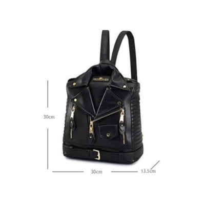 Gothic Leather Jacket Backpack