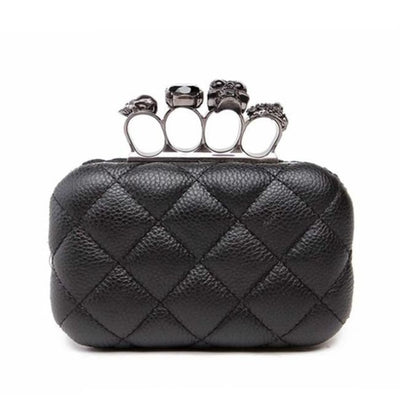 GOTHIC PUNK SKULL RING EVENING CLUTCH BAG-Rebellious Creatures