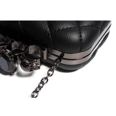 Gothic Punk Skull Ring Evening Clutch Bag