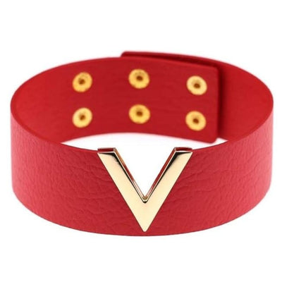 Gothic Punk V Choker - Red