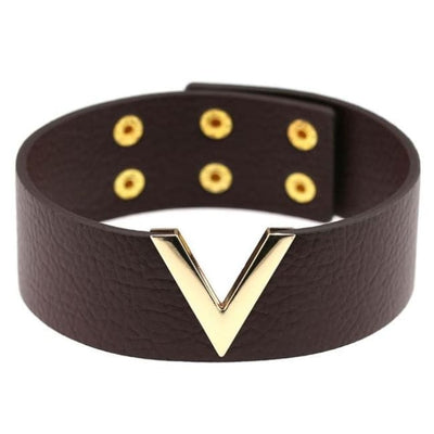 Gothic Punk V Choker - Saddlebrown
