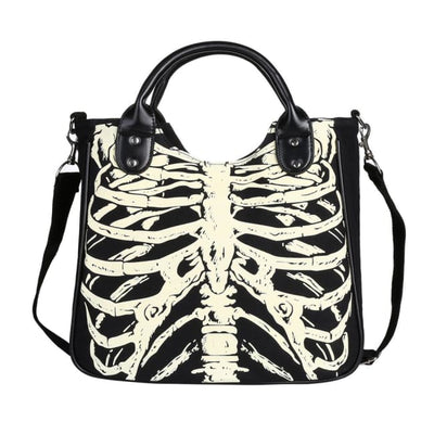 GOTHIC SKELETON TOTE BAG-Rebellious Creatures