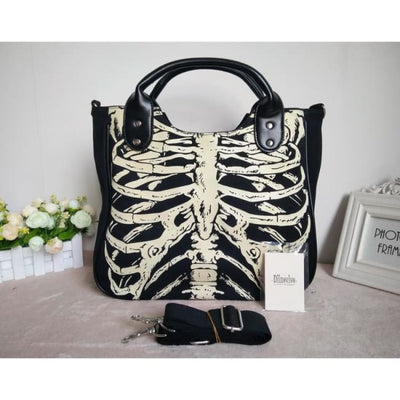 Gothic Skeleton Tote Bag