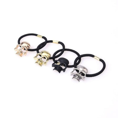 Gothic Skull Elastic Hair Bands - Black Skull