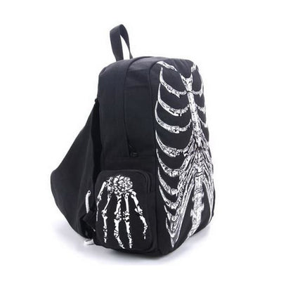 Gothic Skull Skeleton Hooded Backpack