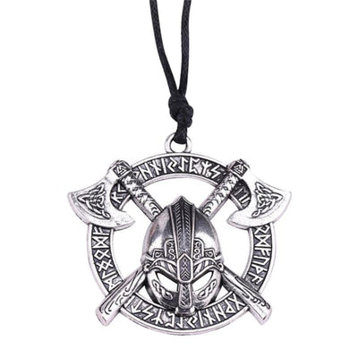 GOTHIC VIKING CREST PENDANT NECKLACE-Rebellious Creatures